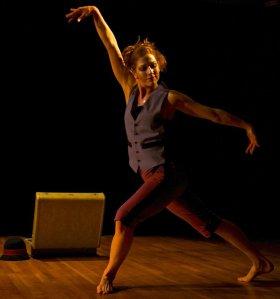 Kate W. Kosharek dances in Elusive Stranger at the Gowanus Guest Room photo: D Kumin